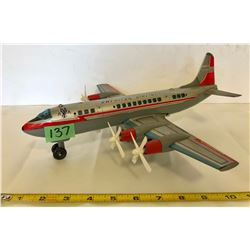 AMERICAN AIRLINES TOY PLANE - TIN & PLASTIC FRAME