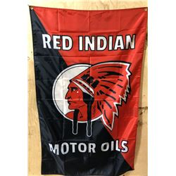 RED INDIAN FLAG  WITH GROMMETS