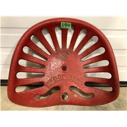 MCCORMICK CAST IMPLEMENT SEAT