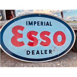 ESSO DSP SERVICE STATION SIGN WITH MOUNTING BRACKET