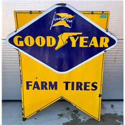 "GOOD YEAR FARM TIRES DSP SIGN - 31.5"" X 35.5"""