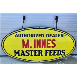 "MASTER FEEDS DEALER DSP SIGN WITH HANGING BRACKETS - 30"" X 60"""