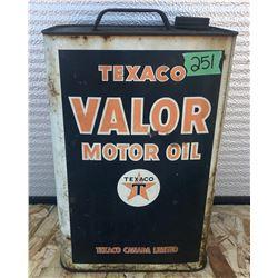 TEXACO VALOR MOTOR OIL TIN