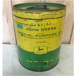 JOHN DEERE 5 GAL SPECIAL - PURPOSE FLUID TIN