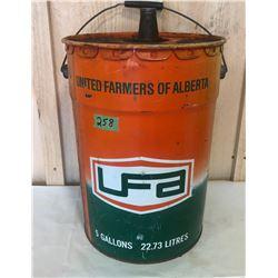 UNITED FARMERS OF ALBERTA 5 GALL PAIL