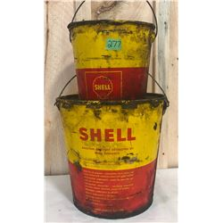 SHELL GREASE PAILS - 10 & 25 LBS