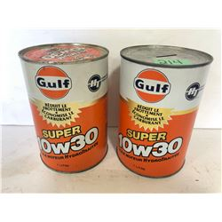 2 X GULF WRAP TINS - 1 BANK
