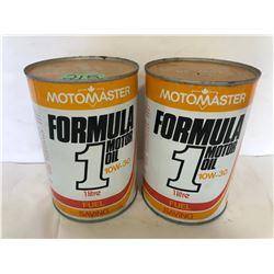 2 X MOTOMASTER FORMULA 1 TINS
