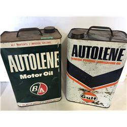 BA AUTOLENE & GULF AUTOLENE - 2 GAL TINS