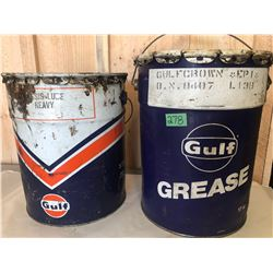 2 X GULF GREASE PAILS