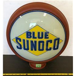 SUNOCO BLUE REPRO GAS PUMP GLOBE