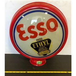 ESSO ETHYL REPRO GAS PUMP GLOBE