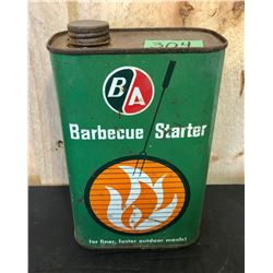BA BARBEQUE LIGHTER FLUID TIN