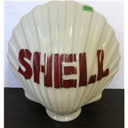 ORIGINAL SHELL MILK GLASS GLOBE