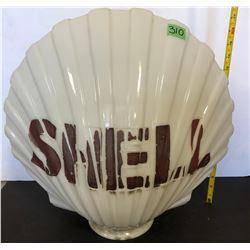 SHELL MILK GLASS GLOBE - DATED 2 - 31