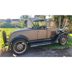 1929  FORD MODEL 'A' ROADSTER WITH RUMBLE SEAT