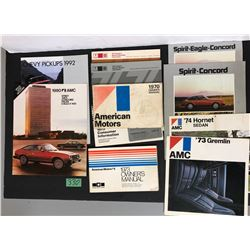 VARIOUS CAR BROCHURES / MANUALS