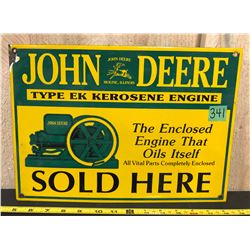 JOHN DEERE SSP SIGN - EK KEROSENE ENGINE