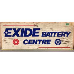 EXIDE BATTERY SIGN - SS PLASTIC