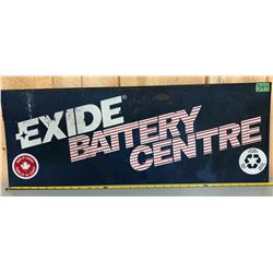 EXIDE BATTERY SIGN - SS PLASTIC
