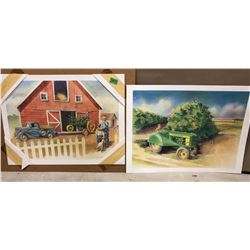 SET OF 2 JOHN DEERE PRINTS