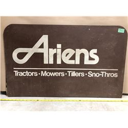 "ARIENS WOOD SIGN - 21"" X 34"""
