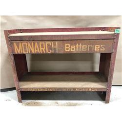 "MONARCH BATTERIES DISPLAY RACK - 10"" X 24"" X 33"""