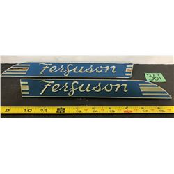 SET OF FERGUSON CHROME TRACTOR EMBLEMS - AS NEW