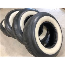 SET OF 4 WHITE-WALL BIAS PLY TIRES L78 - 15