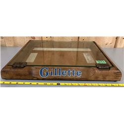 GILLETTE WOOD / GLASS DISPLAY CASE