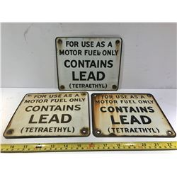 3 X CONTAINS LEAD SSP PUMP PLATES