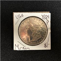 1884 USA MORGAN SILVER DOLLAR (PHILADELPHIA MINTED)