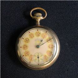 RARE WALTHAM P.S. BARTLETT  POCKET WATCH WITH A VERY ORNATE DIAL
