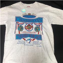 TORONTO BLUE JAYS NUTMEG MILLS CCM WORLD SERIES CHAMPS T-SHIRT (LARGE) 1992