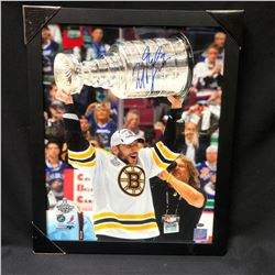 MILAN LUCIC SIGNED and FRAMED STANLEY CUP PHOTO (GAMEDAY HOLOGRAM)