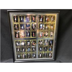 """FRAMED UNCUT SP AUTHENTIC BASKETBALL CARD SHEET (24"""" X 30"""")"""