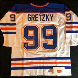 WAYNE GRETZKY SIGNED OILERS JERSEY (WG AUTHENTIC COA) #107101