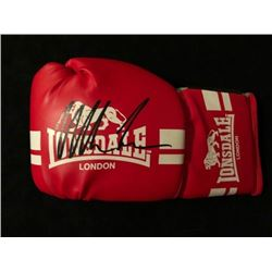 MIKE TYSON SIGNED RED LONSDALE LONDON BOXING GLOVE