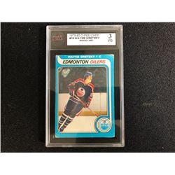 1979-80 O-Pee-Chee #18 Wayne Gretzky Rookie Card (3 VG)