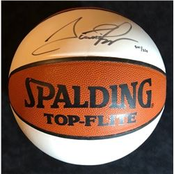 SCOTTIE PIPPEN SIGNED OFFICIAL TOP FLITE WHITE PANEL BASKETBALL (COIN BUILDERS COA)