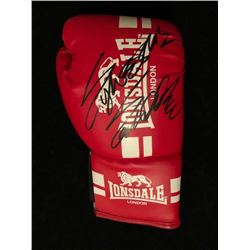 SYLVESTER STALLONE SIGNED RED LONSDALE LONDON BOXING GLOVE