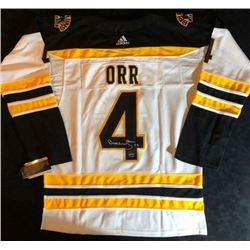Bobby Orr Signed Adidas Bruins Hockey Jersey (GNR COA)