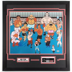 """Mike Tyson Signed """"Punch-Out!!"""" 22x27 Custom Framed Photo Display (JSA COA)"""