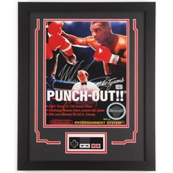 """Mike Tyson Signed """"Punch-Out!!"""" 19.5x23.5 Custom Framed Photo Display (Fiterman Hologram)"""