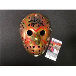 "Ari Lehman Signed ""Friday the 13th"" Mask Inscribed ""Jason 1"" (JSA COA)"
