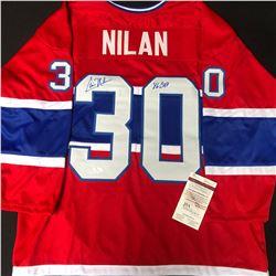 CHRIS NILAN SIGNED CANADIENS JERSEY (JSA COA)