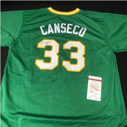 JOSE CANSECO SIGNED A's JERSEY (JSA COA)