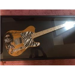 KEITH RICHARDS SIGNED and SHADOW BOXED ELECTRIC GUITAR