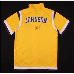 Magic Johnson Signed Lakers Warm-Up Jersey (PSA COA)