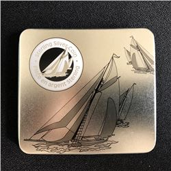 ROYAL CANDAIAN MINT .925 STERLING SILVER YACHT RACING 50 CENT PIECE